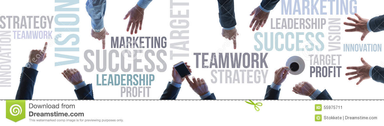 Business Teamwork And Success Banner Stock Photo - Image ...