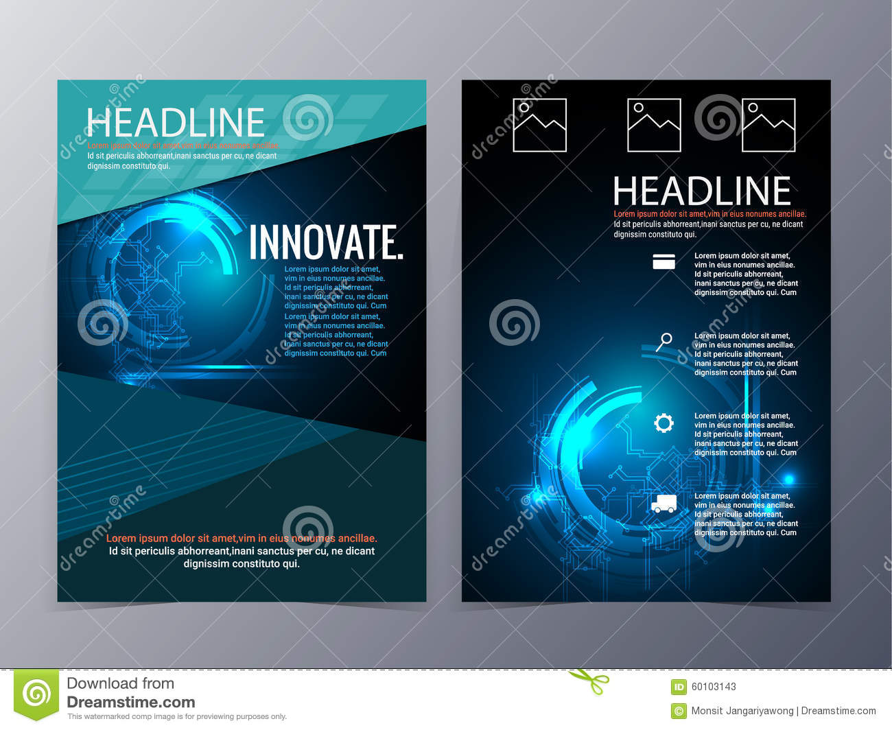 Lovely Royalty Free Vector. Download Business And Technology Brochure Design  Template ...