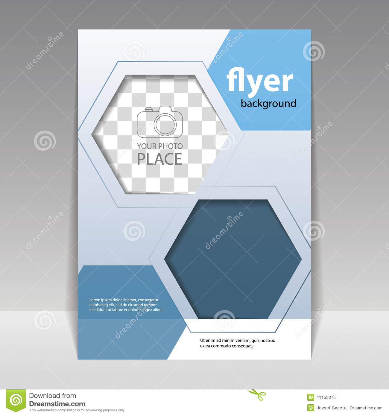 Business Or Technology Flyer Design Template Stock Vector - Image ...