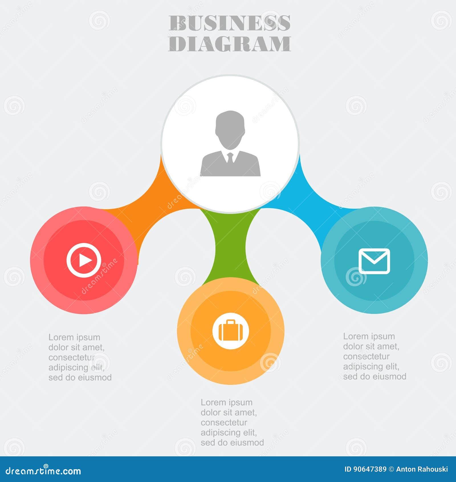 business template pie business chart onceptual creative template