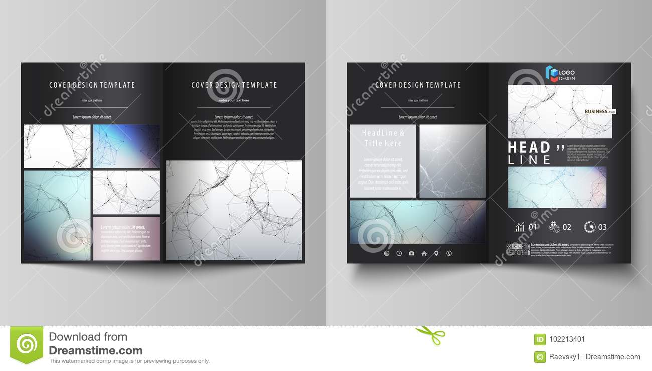 Business Templates For Bi Fold Brochure Flyer Cover Design Template Vector Layout In