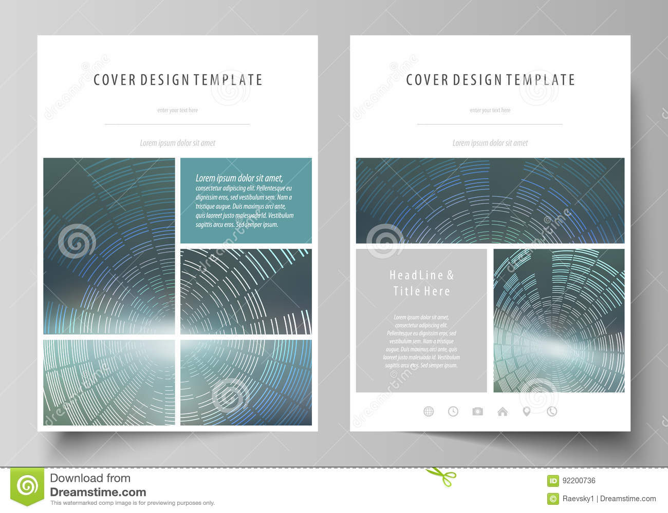 business templates for brochure flyer booklet or report cover