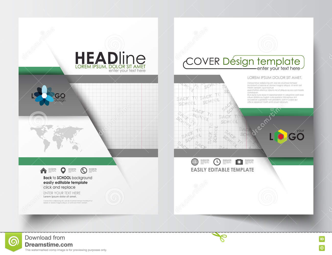 Business Templates For Brochure Magazine Flyer Booklet