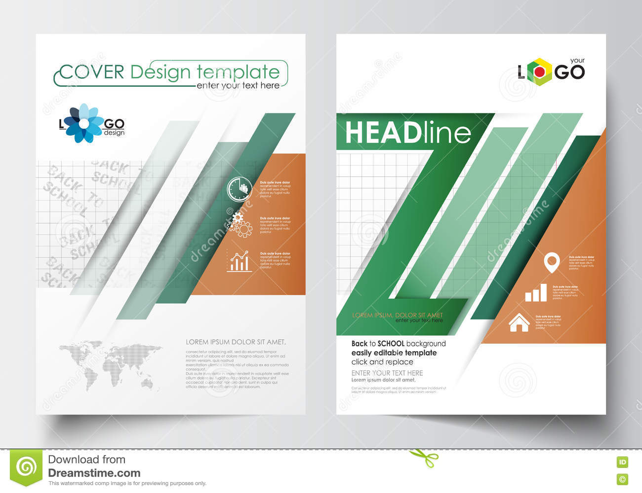 Business templates for brochure magazine flyer booklet for Editable brochure templates