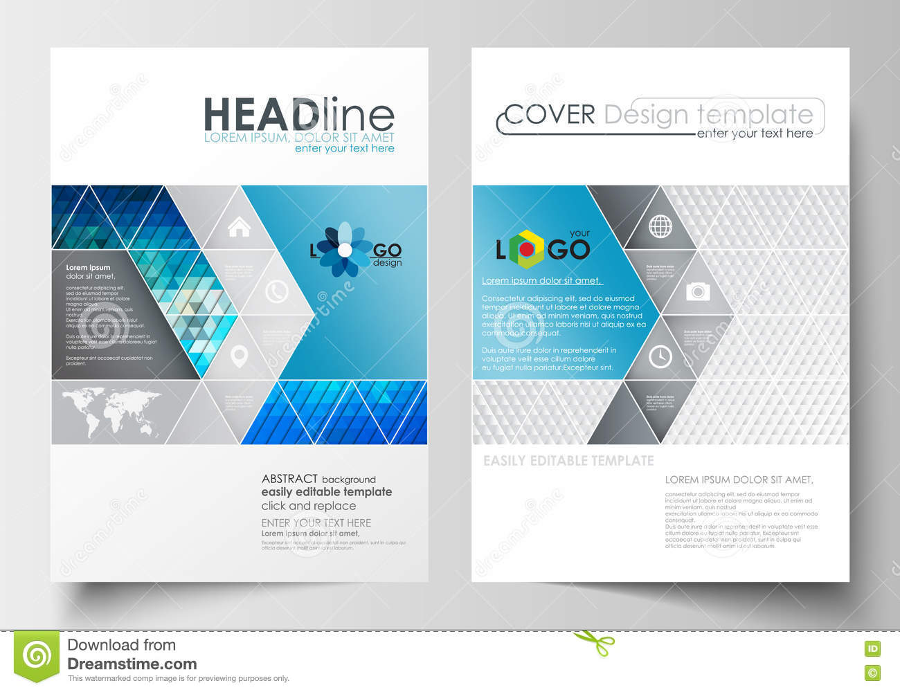 Business templates for brochure magazine flyer booklet for Booklet brochure template