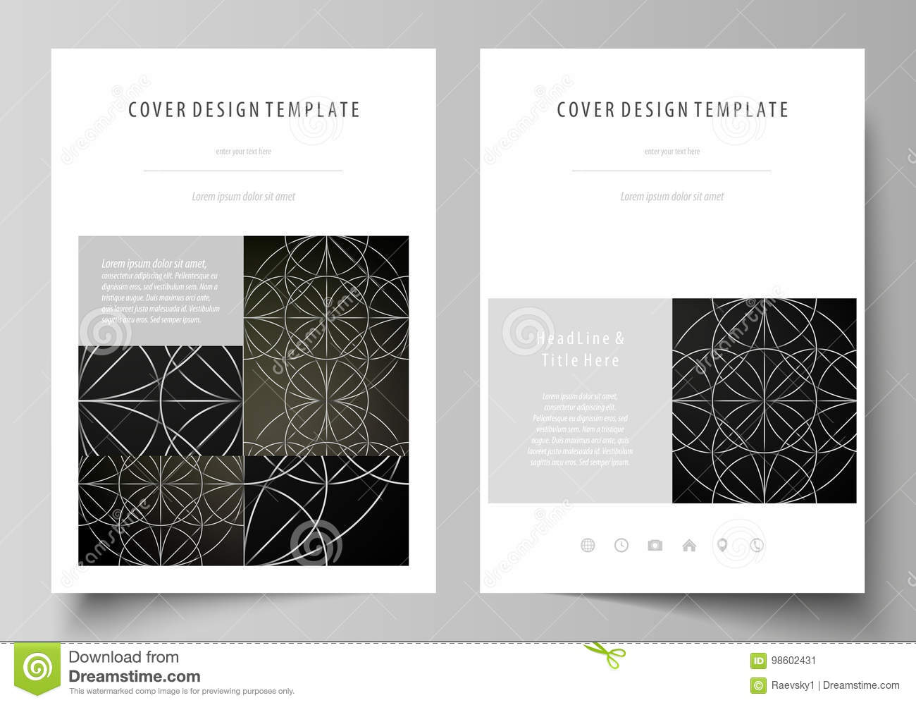 Business Templates For Brochure, Magazine, Flyer, Booklet, Report ...