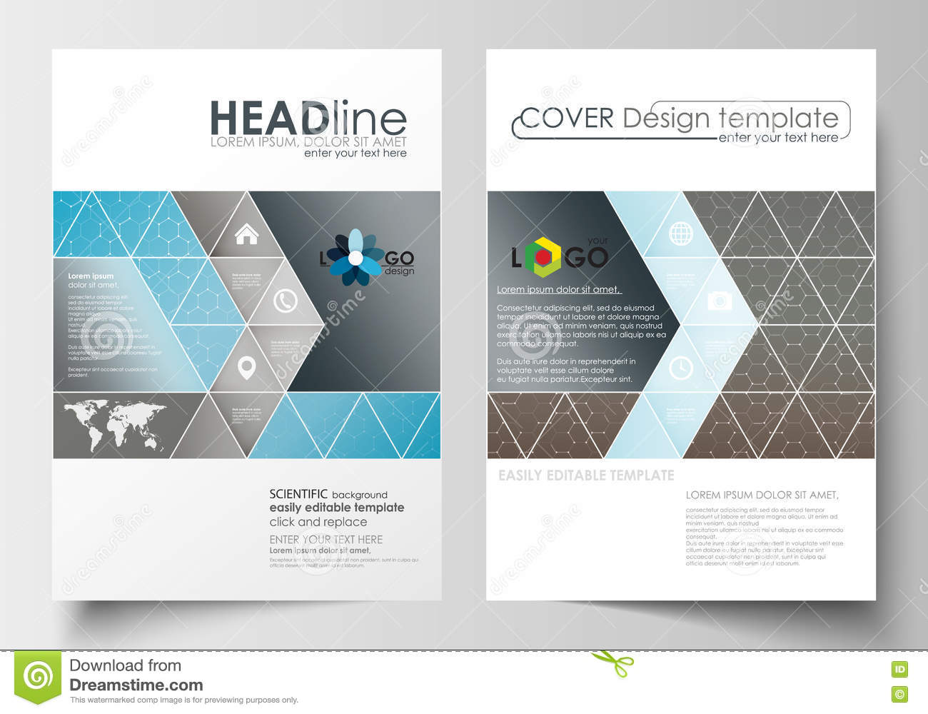 Business templates for brochure magazine flyer cover for Booklet brochure template