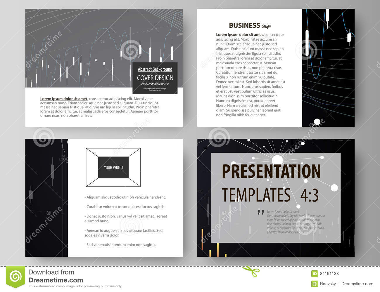 Download Business Templates For Presentation Slides Vector Layouts Abstract Infographic Background In Minimalist Design