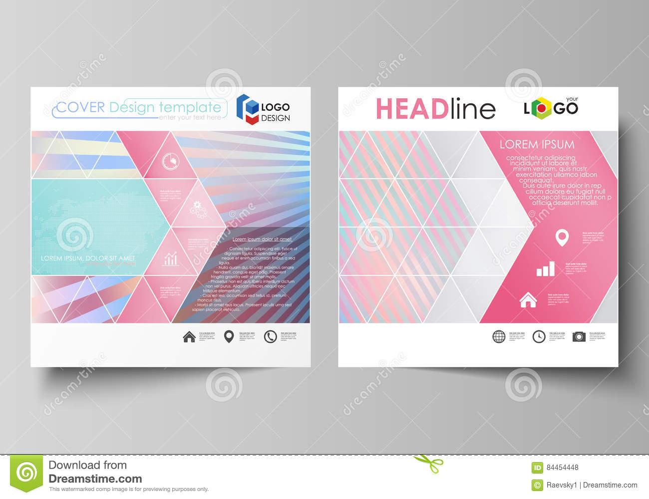 business templates for square brochure magazine flyer booklet or