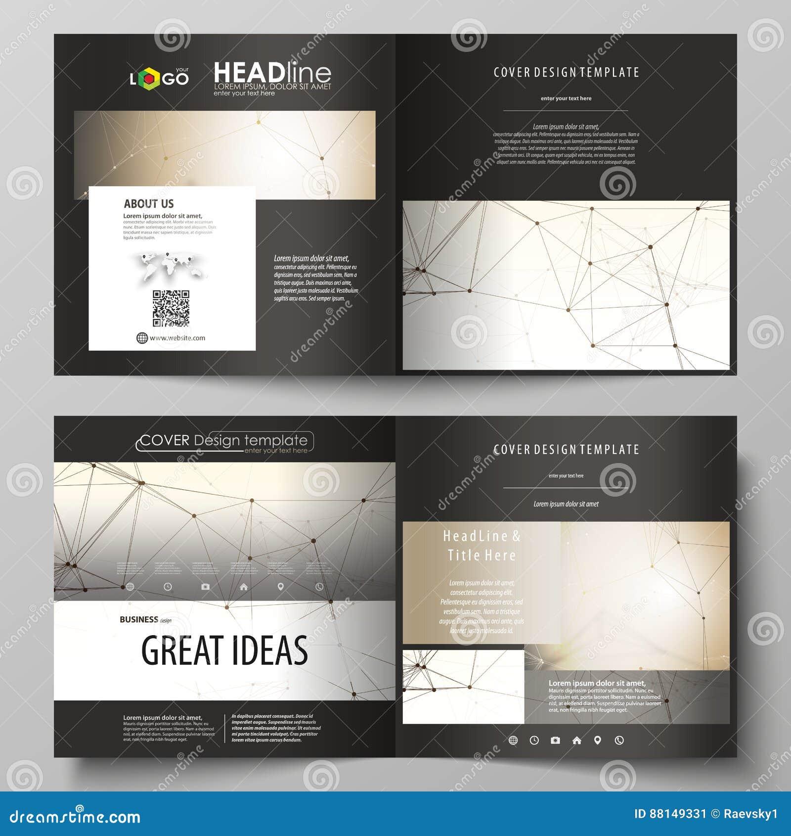 Download Business Templates For Square Design Bi Fold Brochure Flyer Booklet Report
