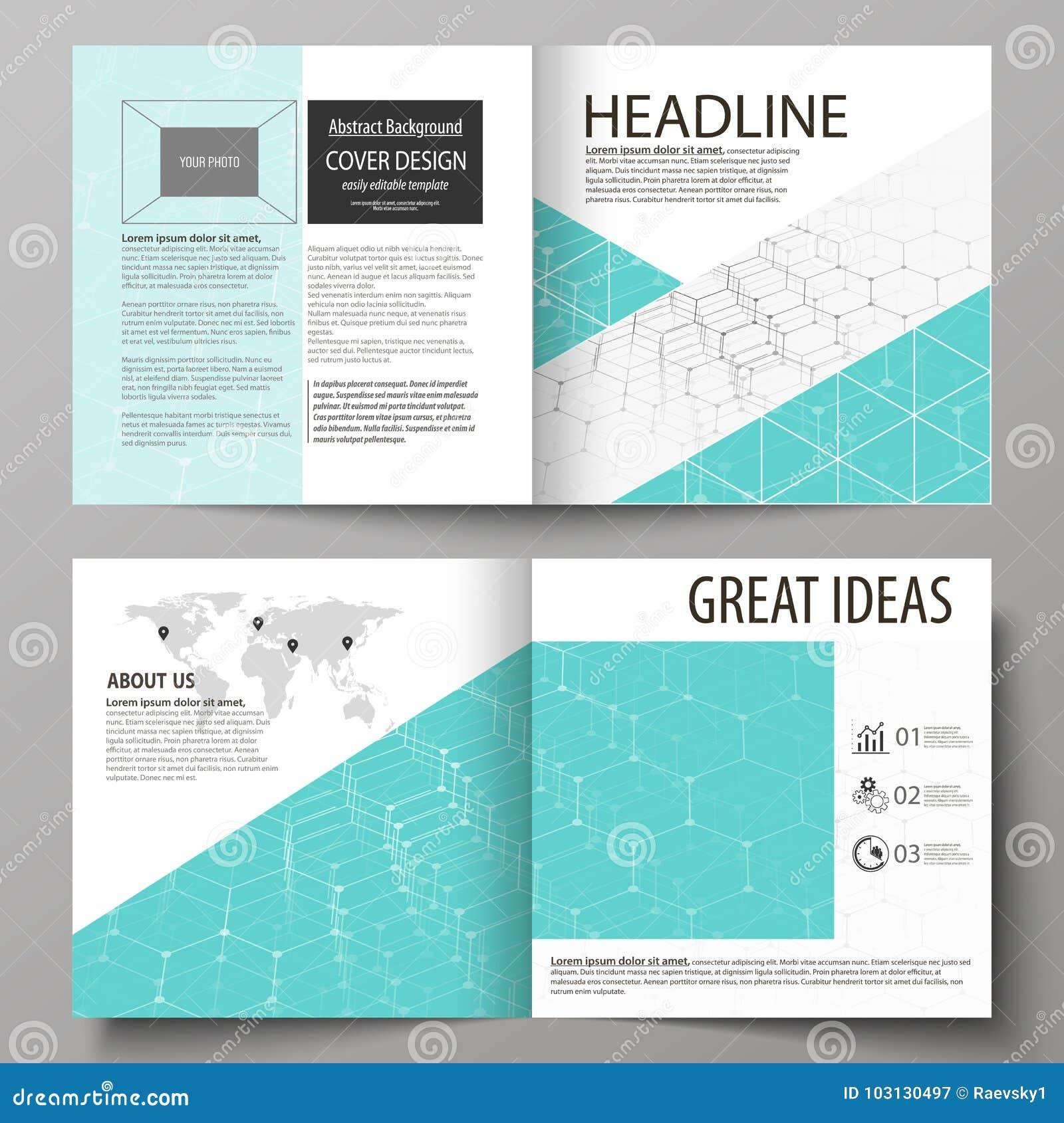 business templates for square design bi fold brochure flyer report
