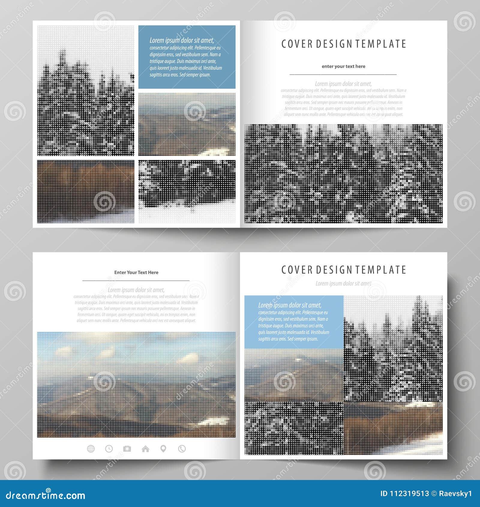 business templates for square design bi fold brochure flyer
