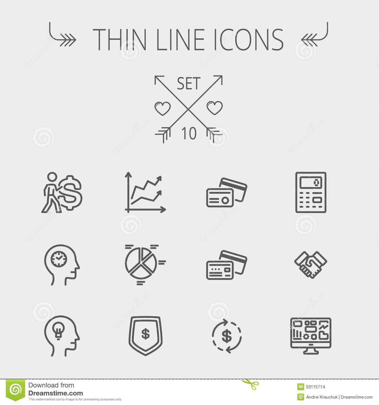 Business thin line icons stock vector illustration of application business thin line icons colourmoves