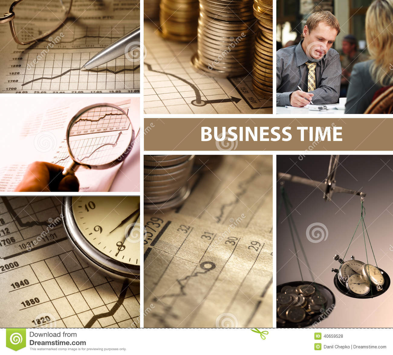 Business time collage