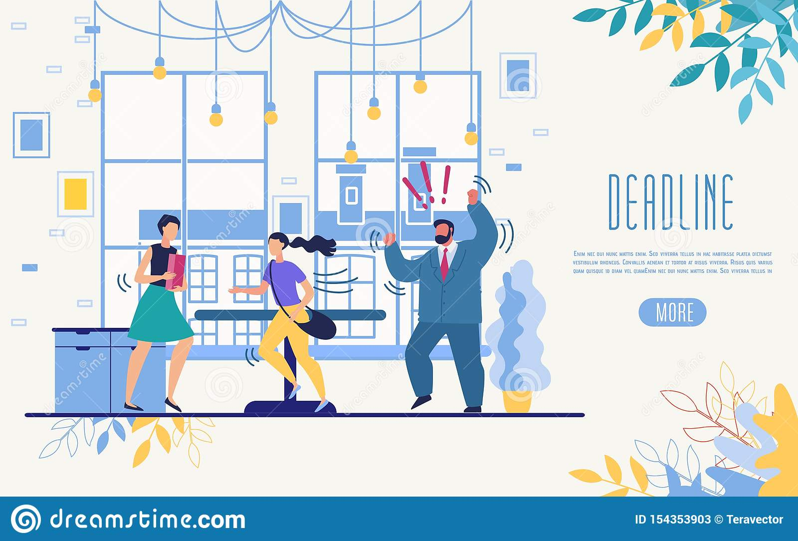 Business Time Management Service Vector Website