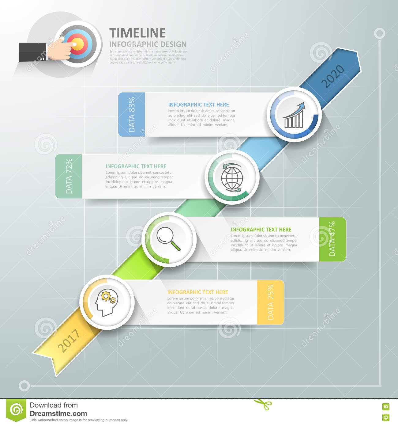 Business Timeline Infographic Template Can Be Used For Workflow ...