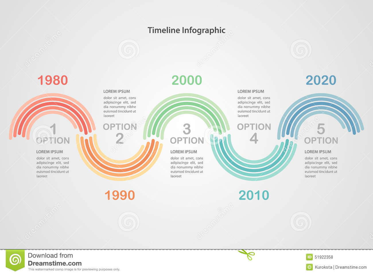 Business Timeline Infographic Template Vector Stock