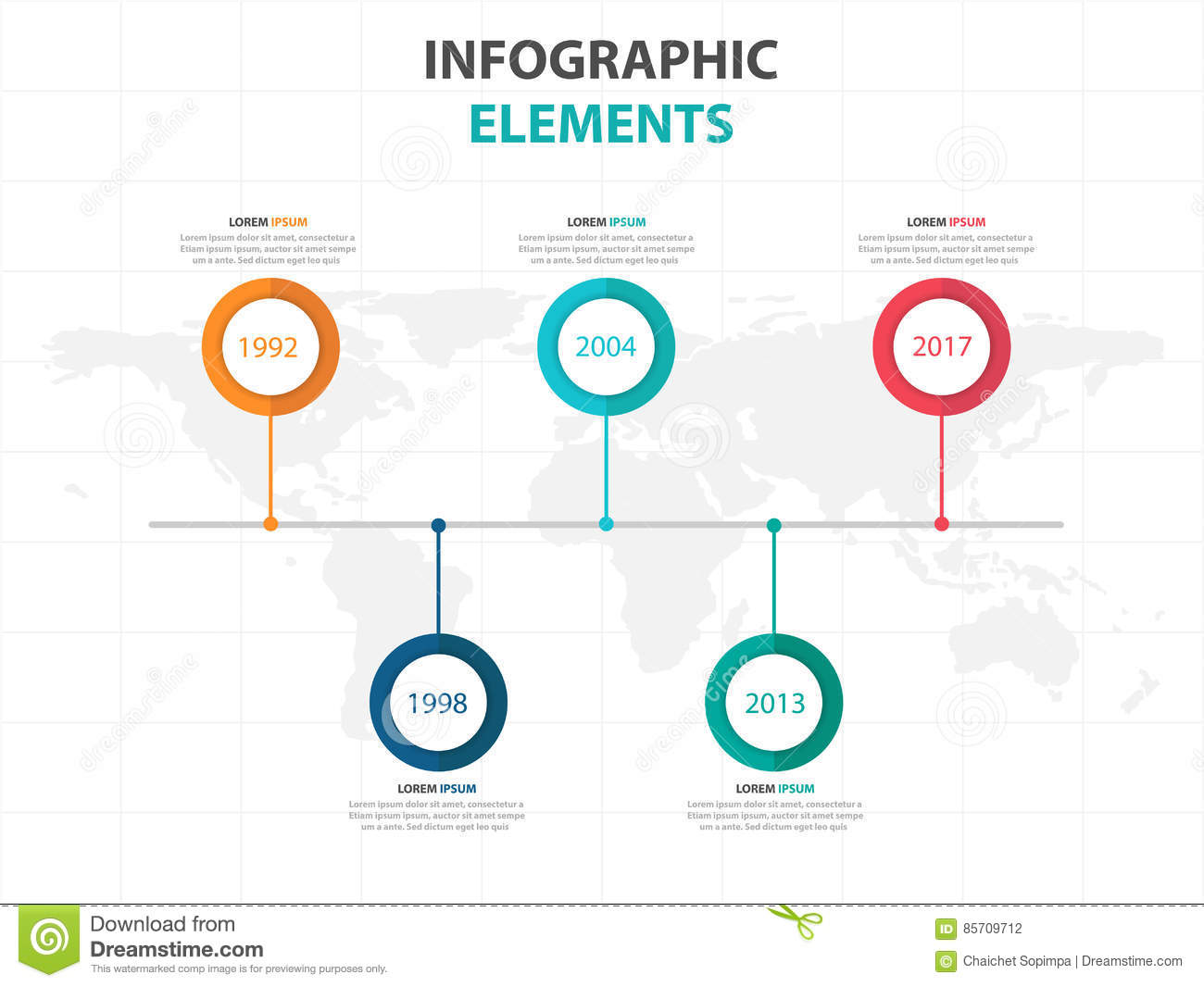 Business Timeline Infographics Elements Presentation