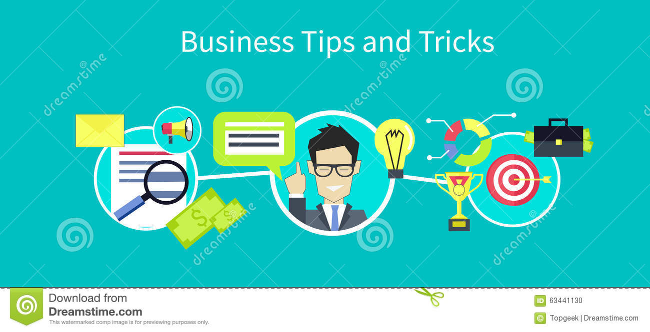 Business Tips And Tricks Design Stock Vector Image 63441130