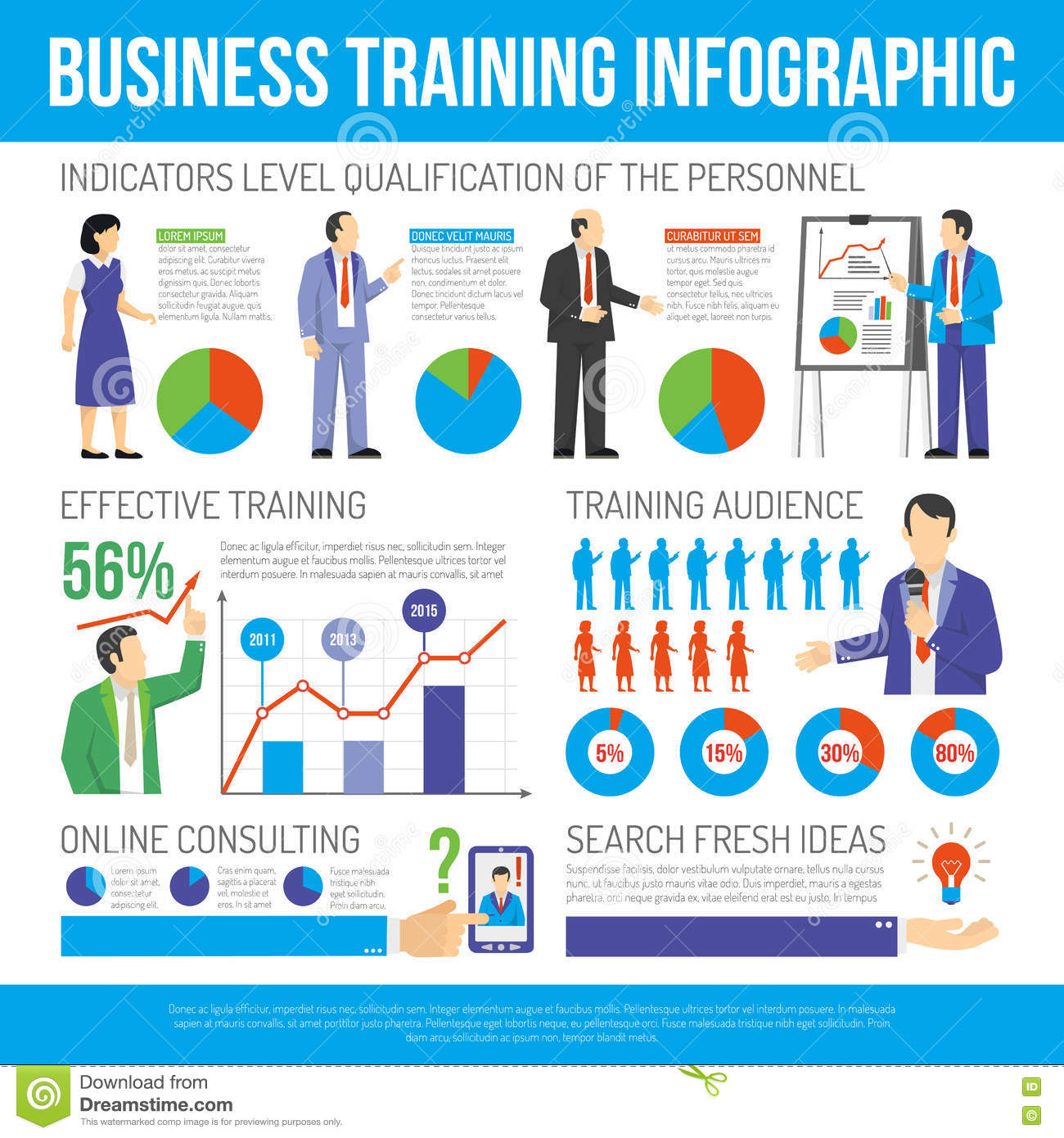 Business Training And Consulting Infographic Poster Stock ...
