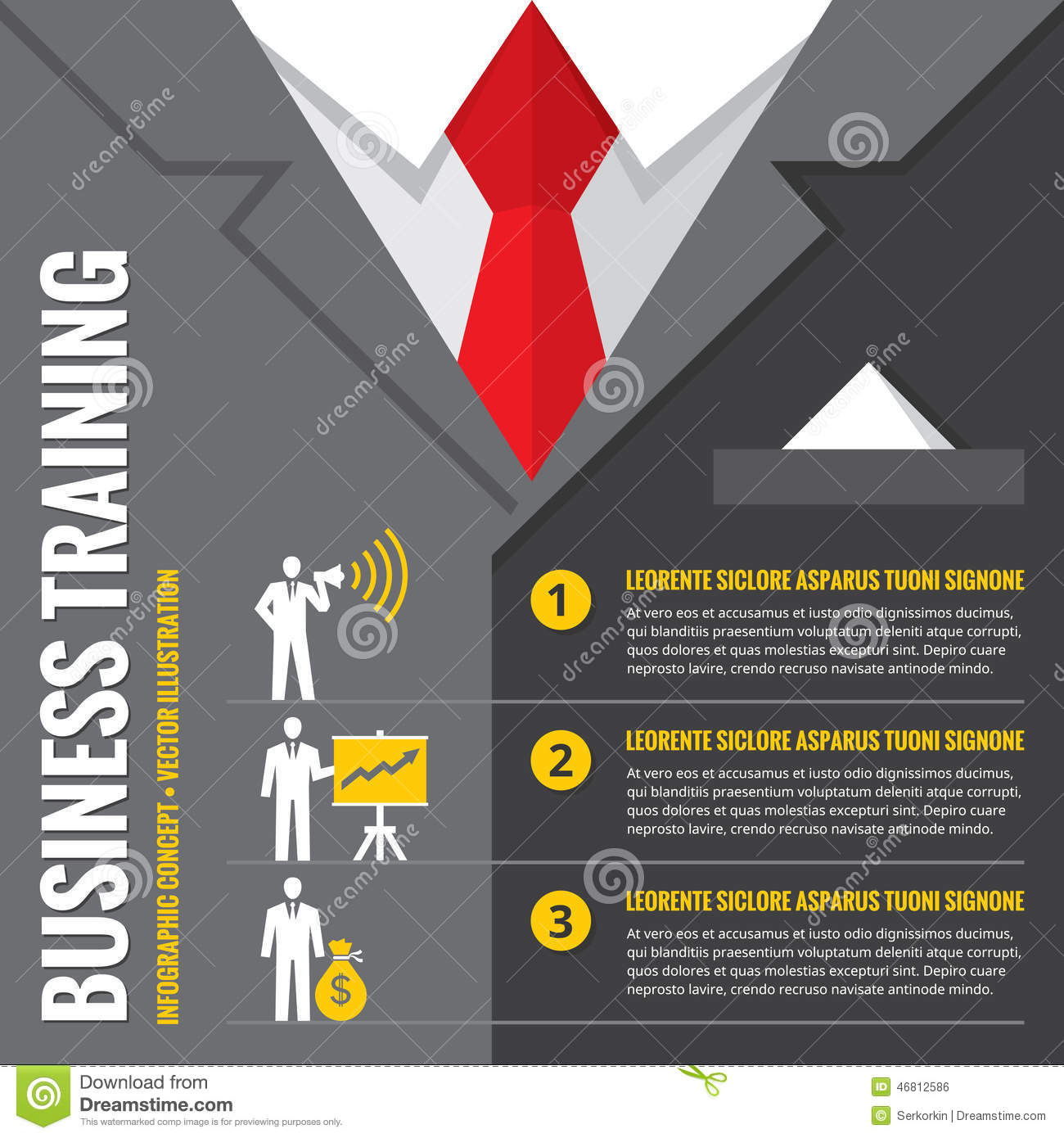 Business Training - Infographic Vector Illustration ...