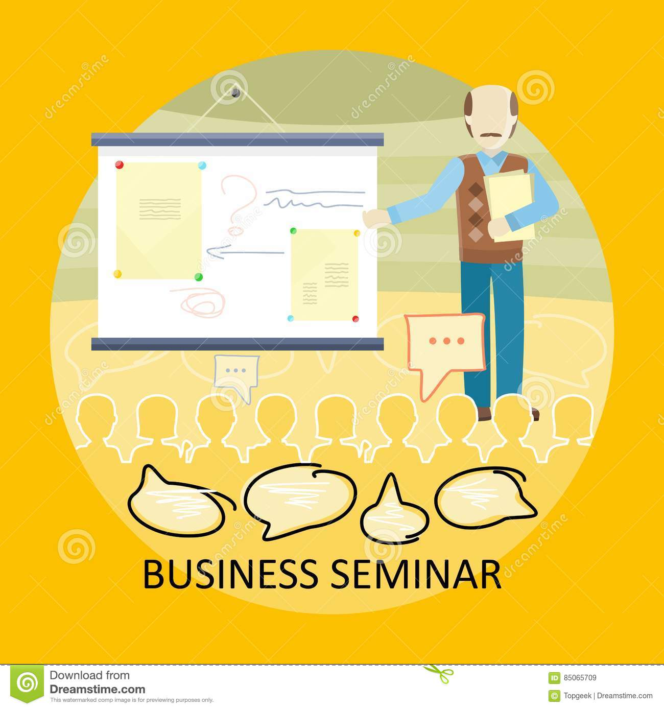 Business Training Vector Concept In Flat Design Stock Vector