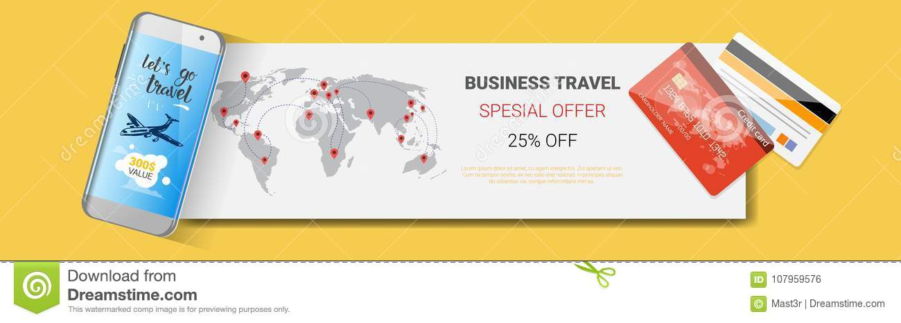 business travel special offer poster of tourism company template