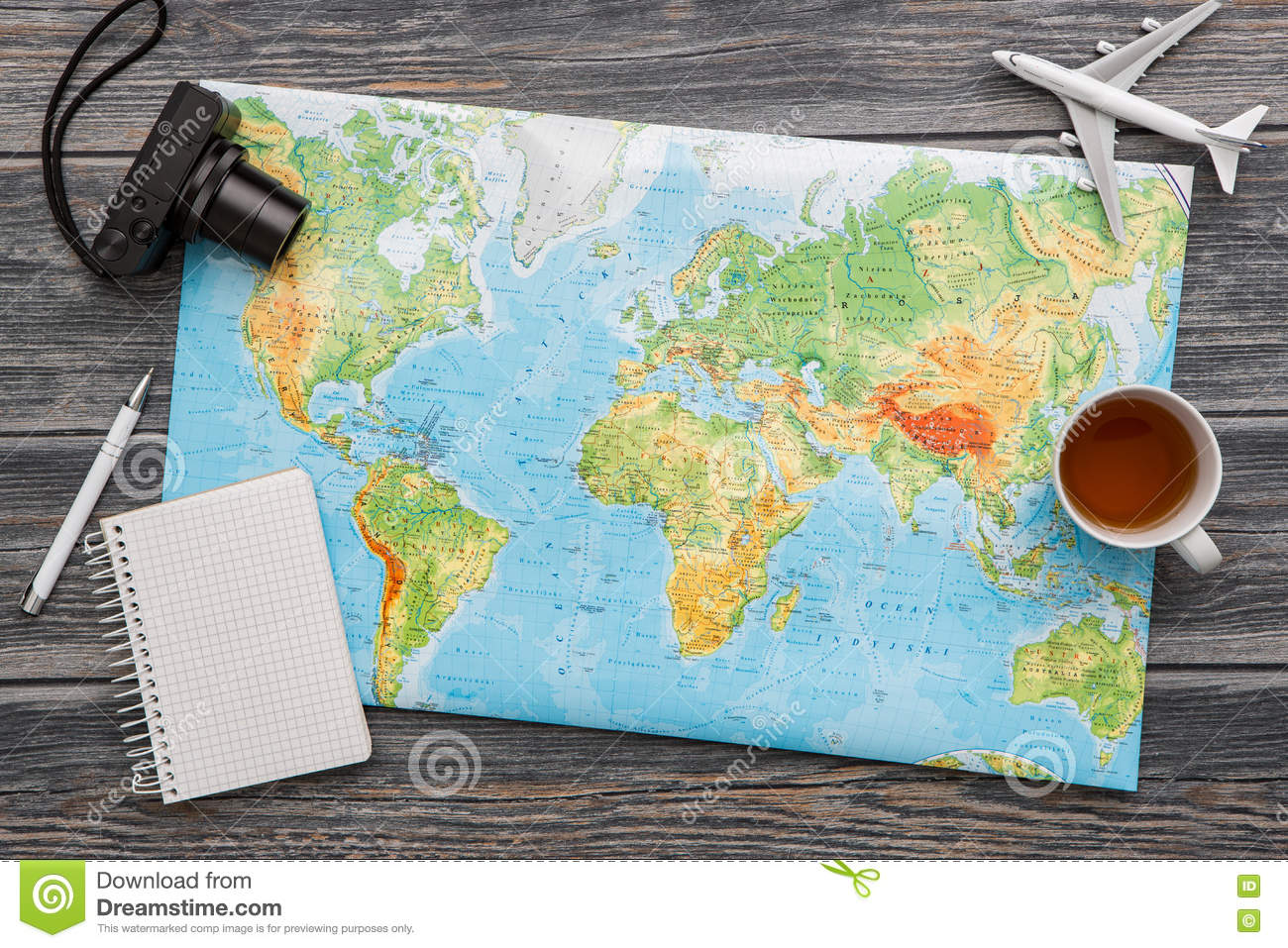 Business Travel Traveling Map World Concept. Stock Image - Image of on