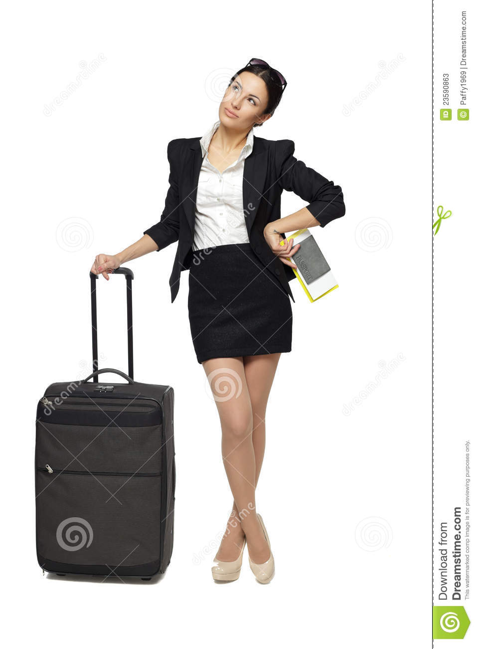 business travel woman cartoon vector cartoondealercom