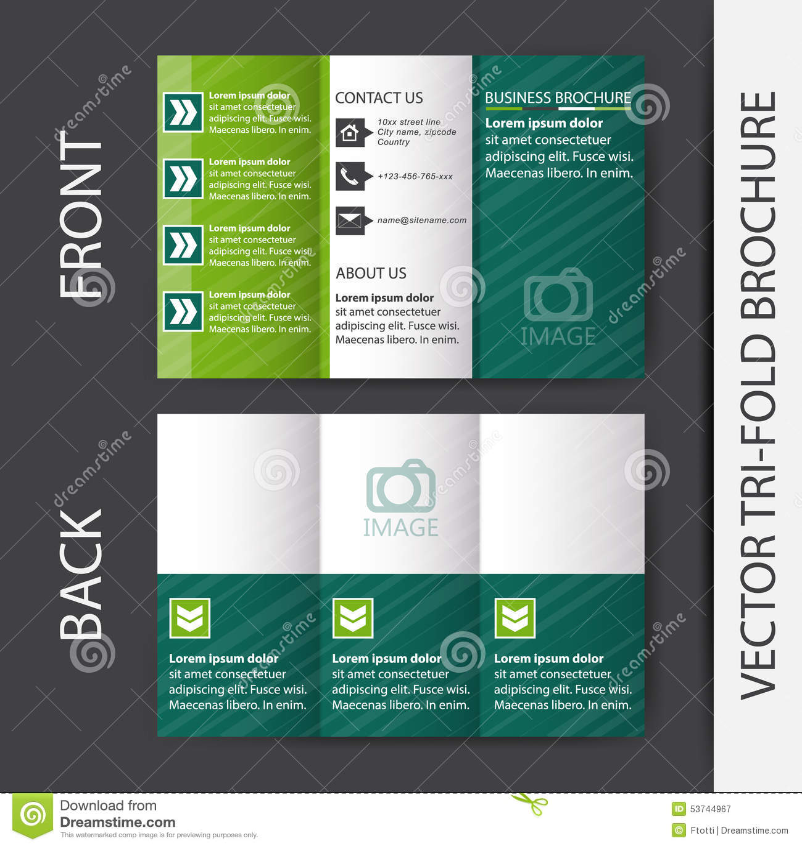 Business tri fold brochure design stock vector for Best tri fold brochure design
