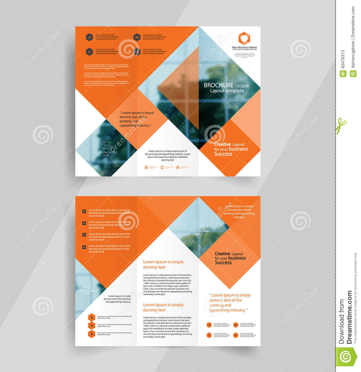 e brochure templates - business tri fold brochure layout design emplate stock