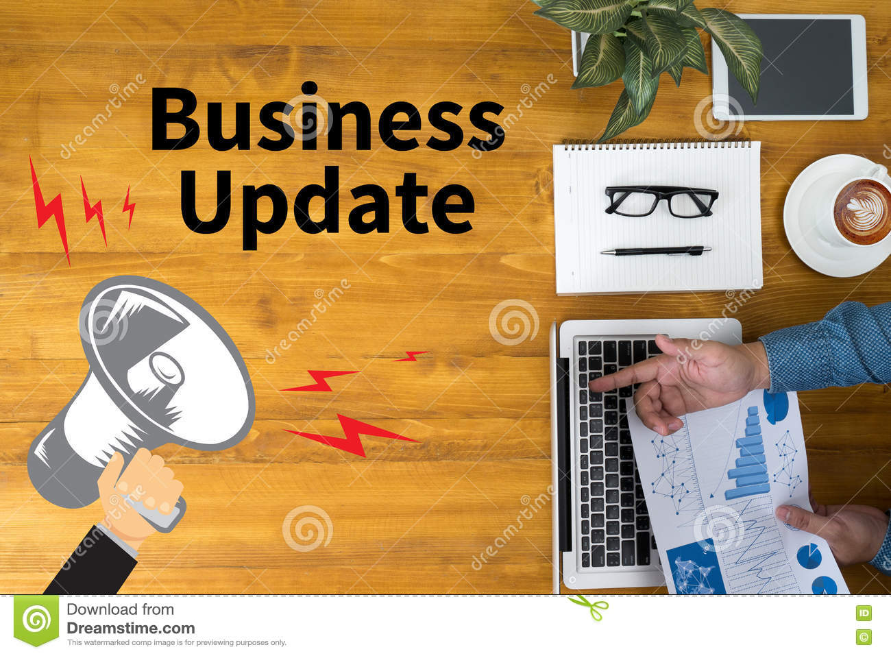 Business Update Stock Illustration Image Of Illustration
