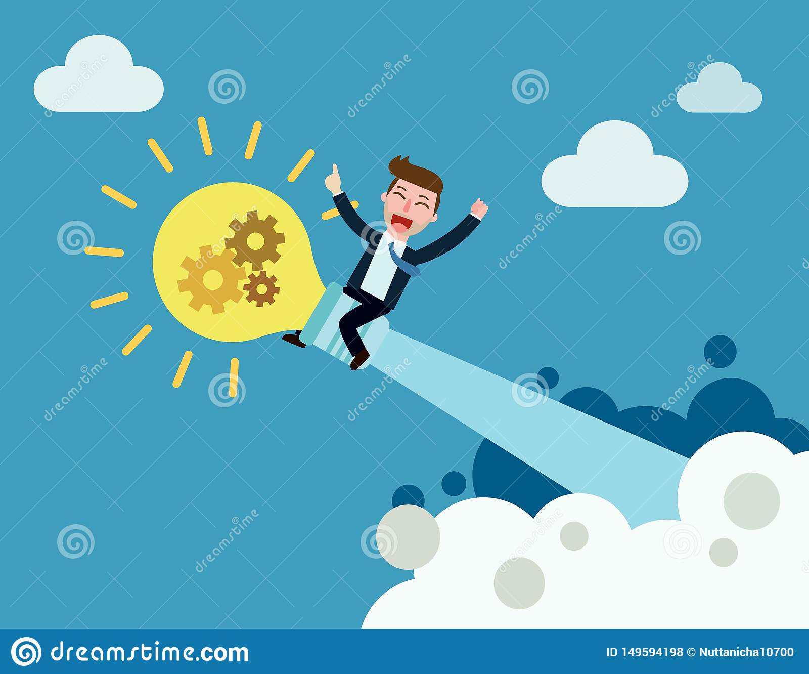 Business Vector flat cartoon design. banner background concept