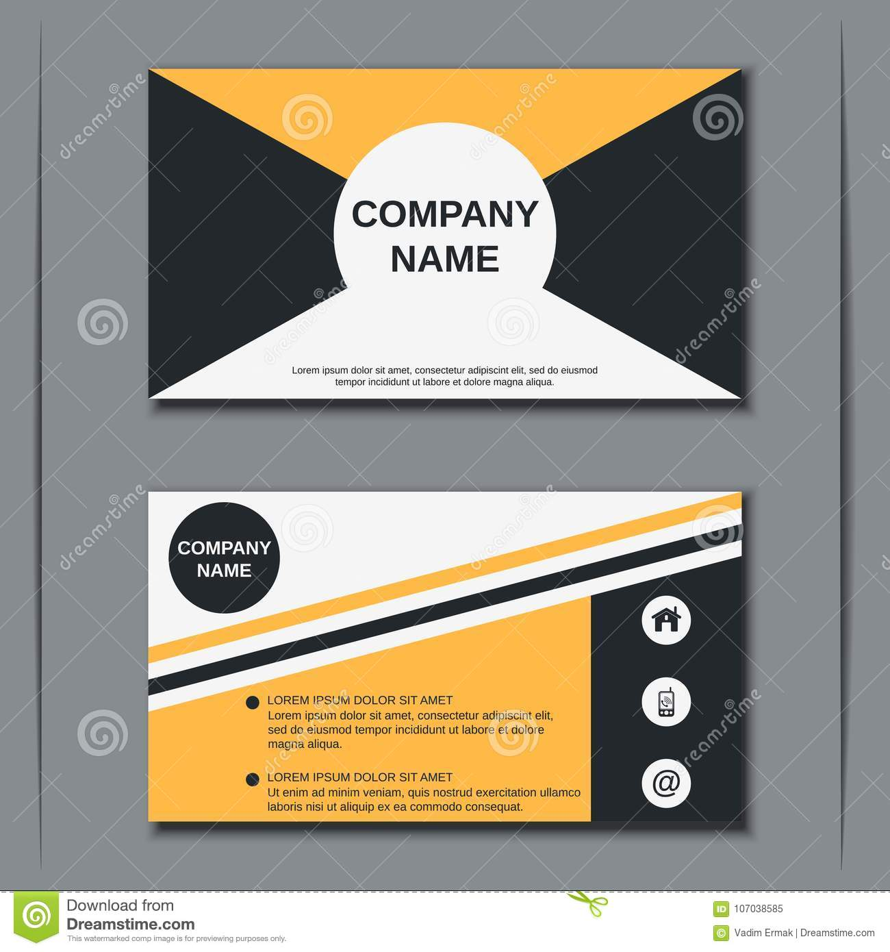 Business Visiting Card Vector Design Template Stock Vector ...