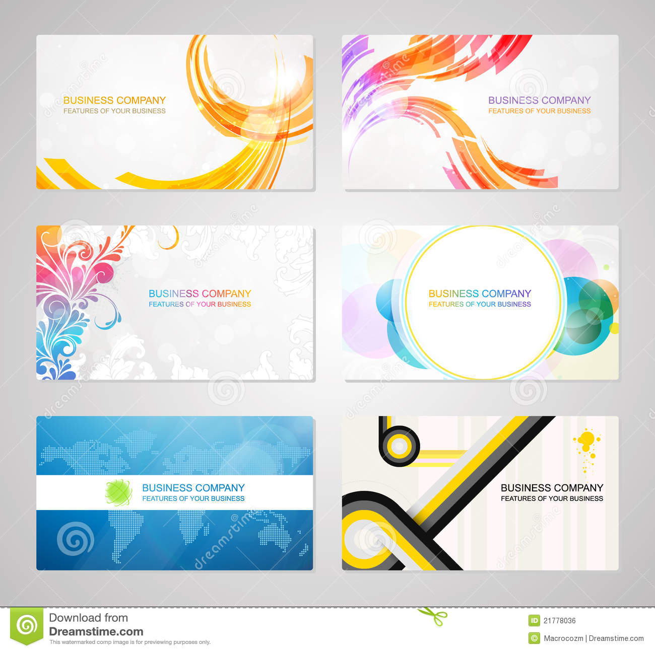 Business visiting card collection stock vector image for Business card collection