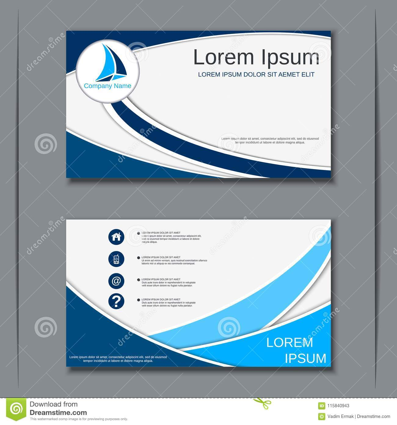 business visiting card vector design template stock vector