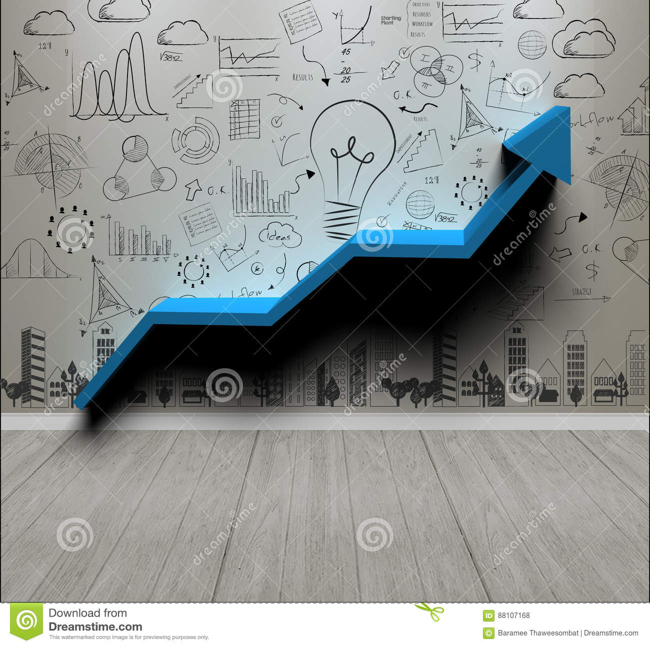 Business Wall Background Concept For New Ideas With Innovation Stock ...