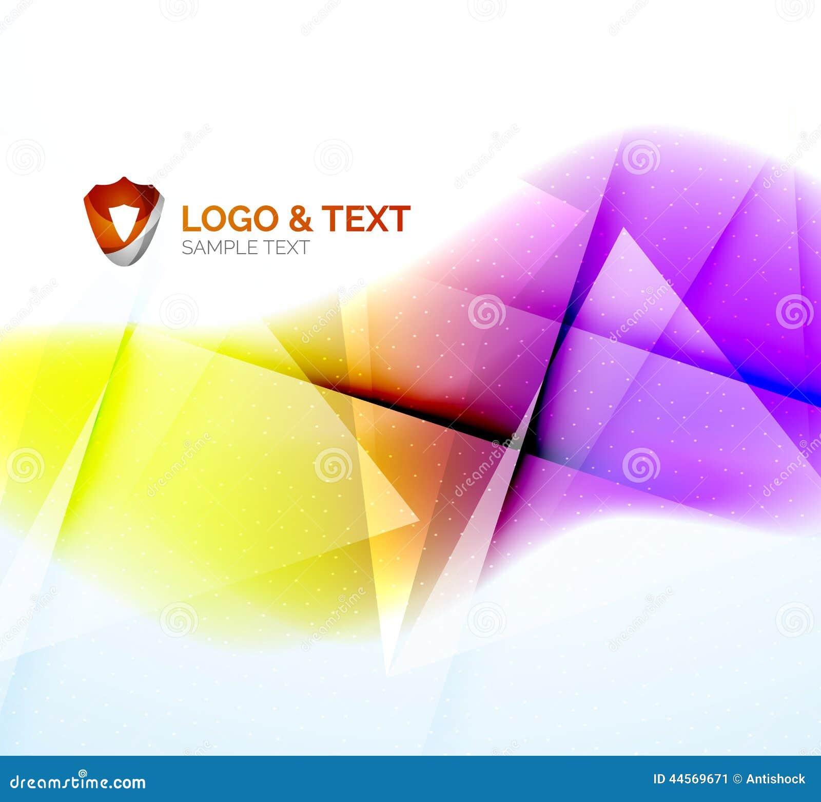 Business wave, purple and orange