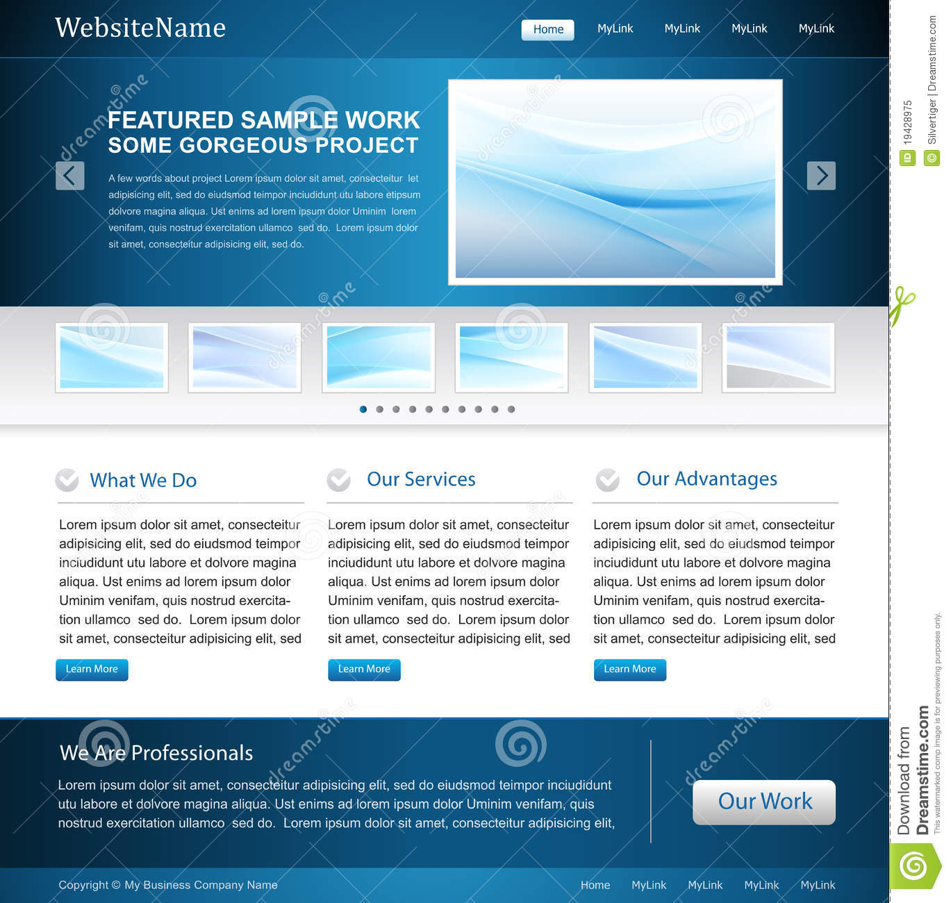 Business Website Design Template Royalty Free Stock Photo Image 19428975