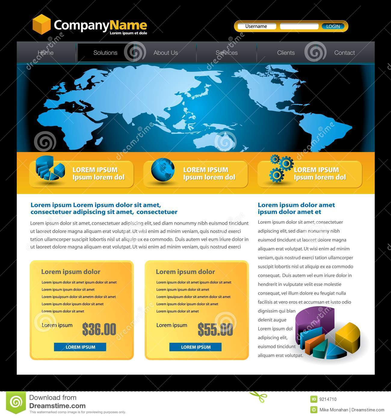 wesite templates - business website template stock photo image 9214710