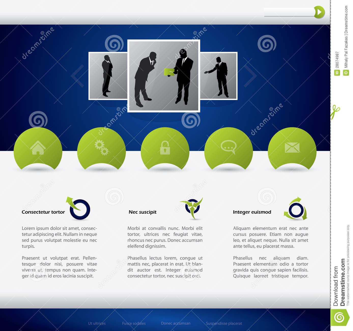 business website template design royalty free stock