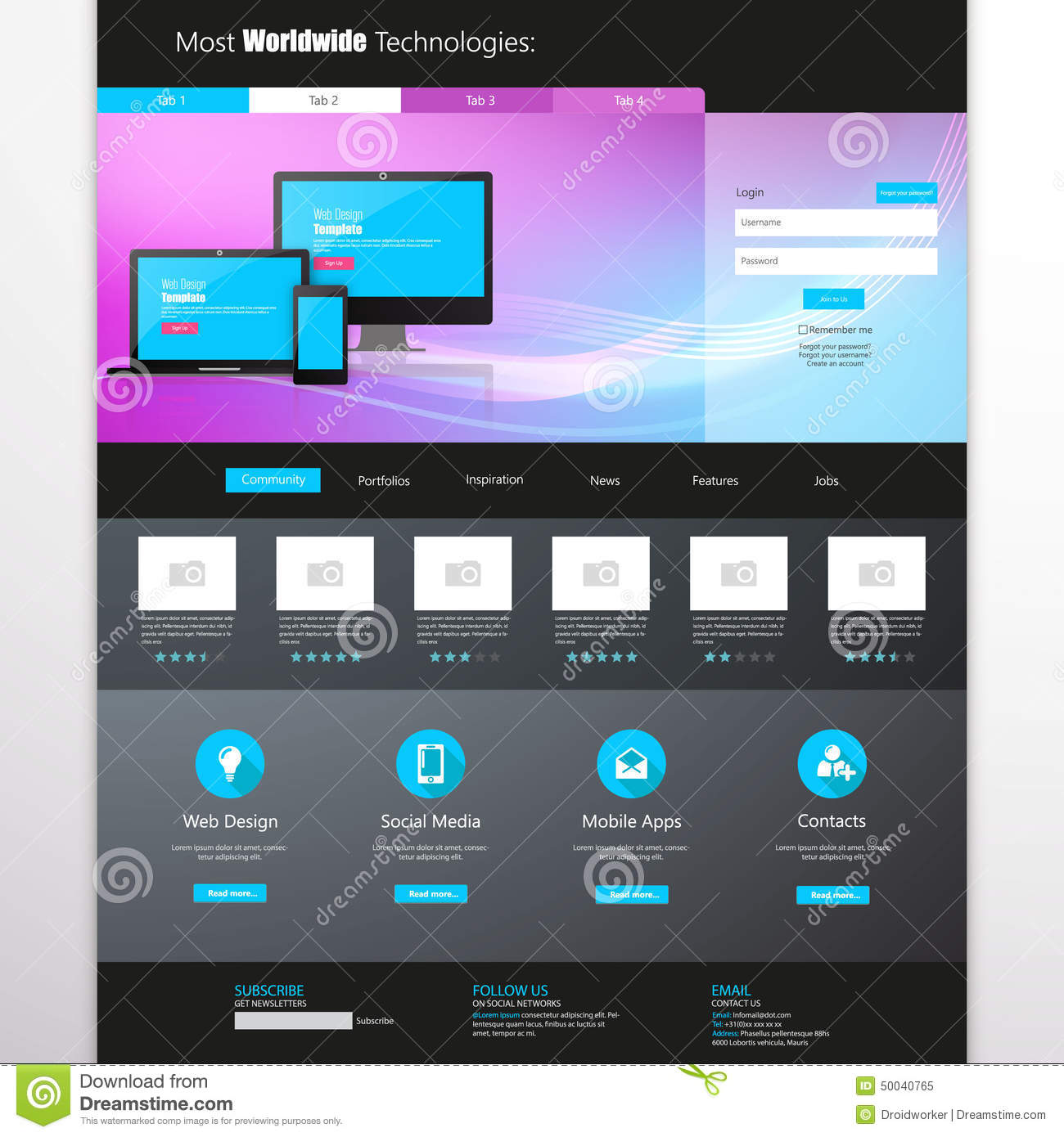 Business website template home page design clean and simple business website template home page design clean and simple vector illustration wajeb Images