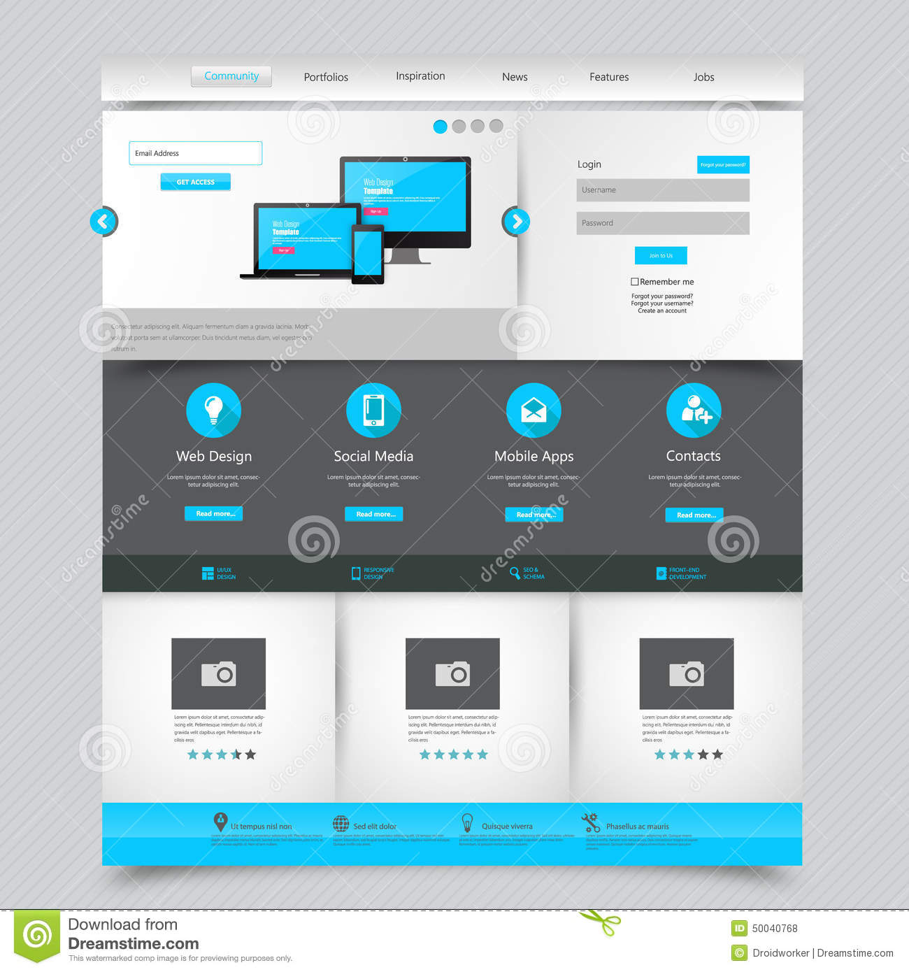 Business website template home page design clean and simple business website template home page design clean and simple vector illustration royalty free fbccfo