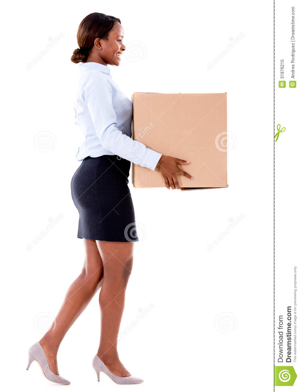 Como Utilizar A Sauna Pra Perder calorias business-woman-carrying-box-cardboard-isolated-over-white-31876215
