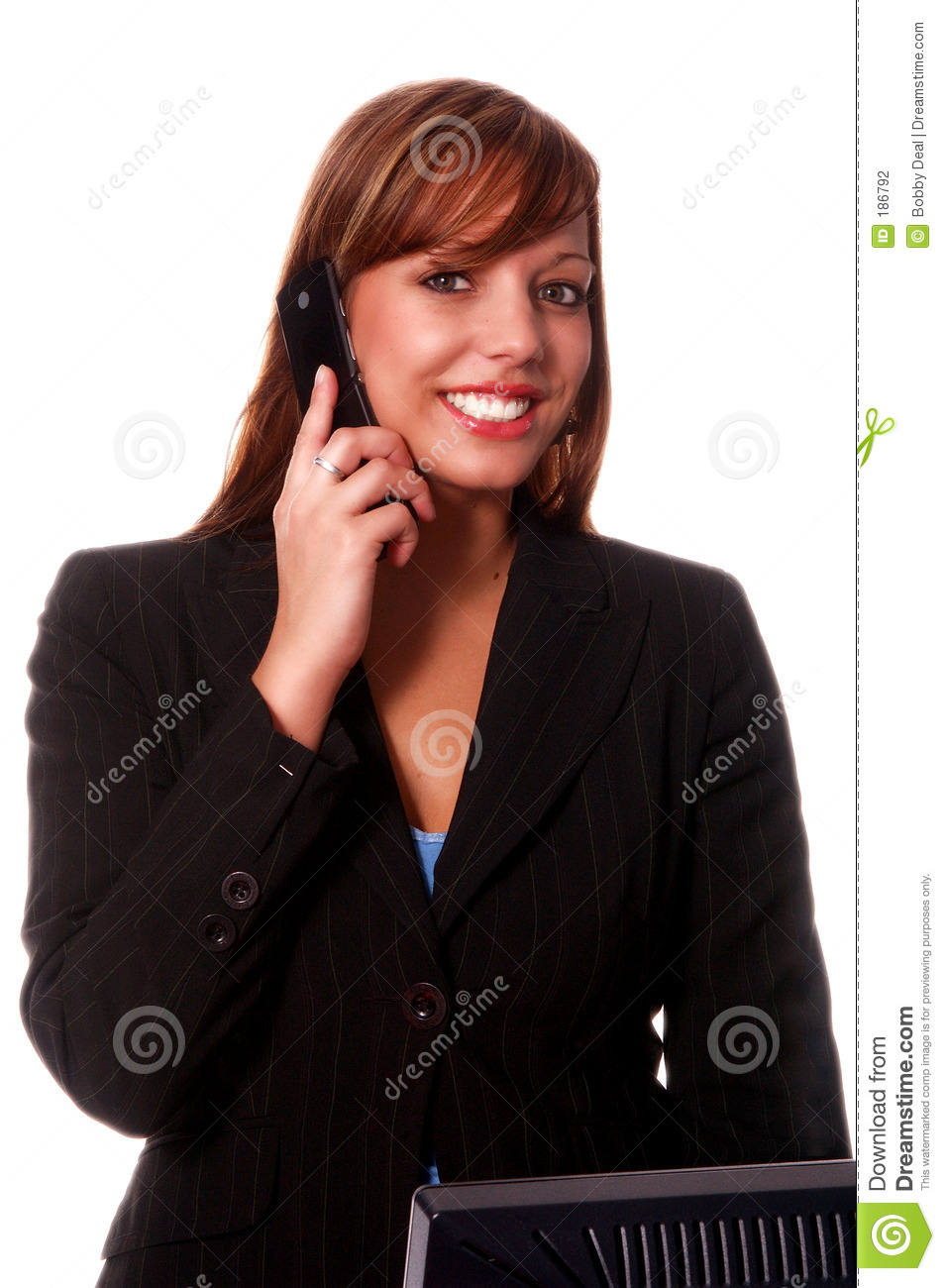 Business Woman Cell Phone Stock Photography Image 186792