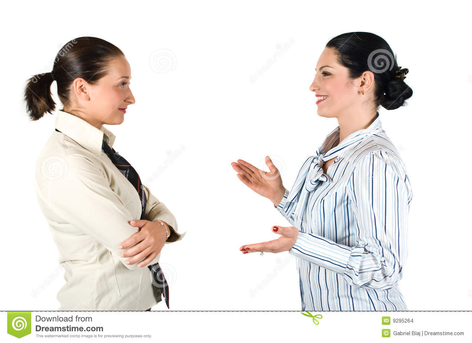 Business woman conversation