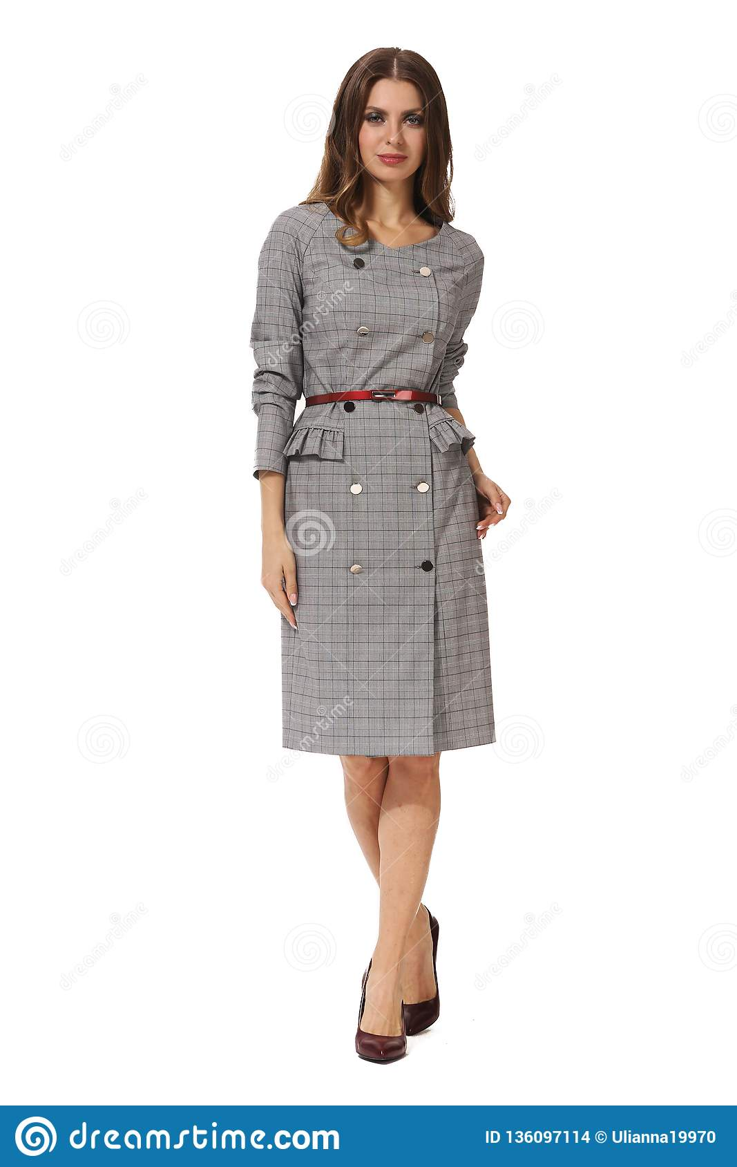787f8ae73a3 Business Woman Executive Posing In Casual Clothes Stock Photo ...