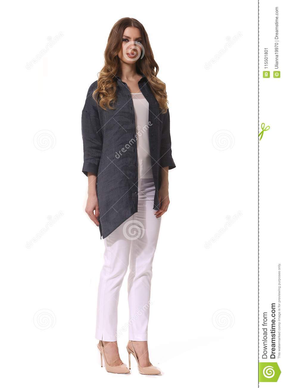Business Woman Executive Posing In Designer Formal Summer Pink Powder Pant Suit Stock Image Image Of Hand Fashion 115501801