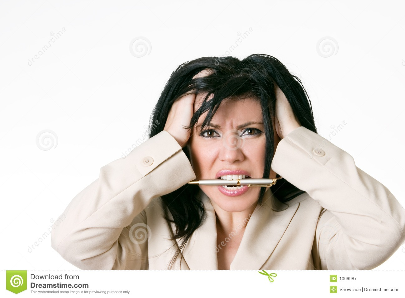 Grimace face clip art stock photo woman pulls a face in upset - Business Woman Frustrated