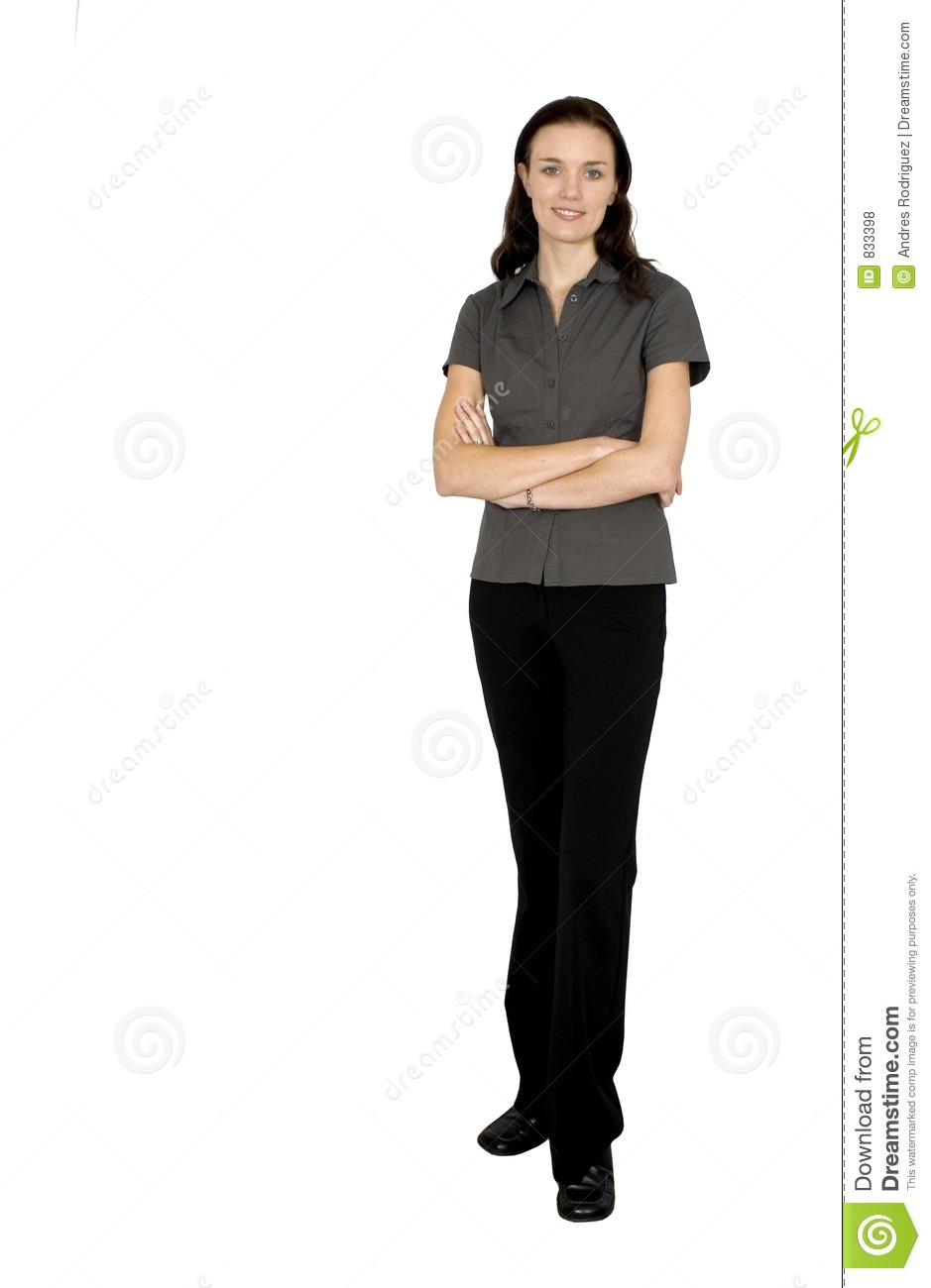 Business woman full body stock photo. Image of confident ...